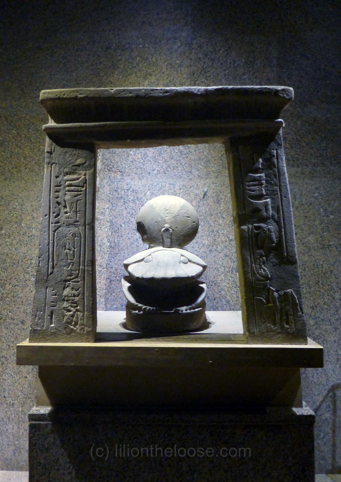 Scarab with the sun disk of Ra in its shrine.